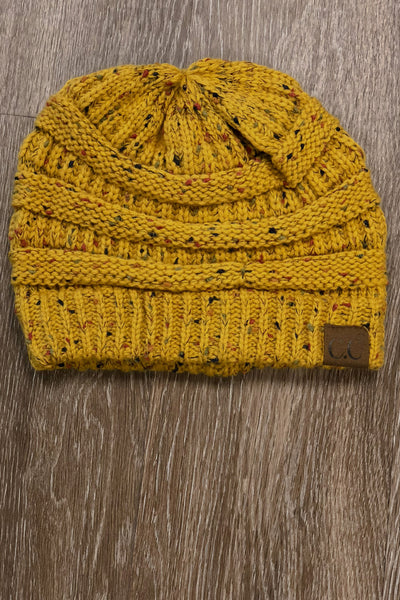 Slouchy Melange Knit Beanies