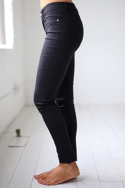 Chic & Sleek Pants - Black skinny pants, side, Closet Candy Boutique 3