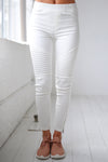 Need For Speed Moto Pants - Ivory ribbed moto pants, Closet Candy Boutique 4