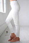 Need For Speed Moto Pants - Ivory ribbed moto pants, Closet Candy Boutique 1