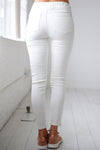 Need For Speed Moto Pants - Ivory ribbed moto pants, Closet Candy Boutique 3