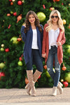 For All Time Cardigan - Navy open front knit cardigan, Closet Candy Boutique 2