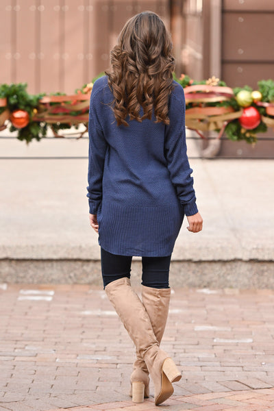 For All Time Cardigan - Navy open front knit cardigan, Closet Candy Boutique 5