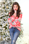 Christmas Countdown Top - Red holiday patterned snowflake top, Closet Candy Boutique