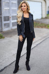 Living the Dream Moto Jacket - Black suede moto jacket, outfit, Closet Candy Boutique