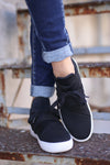 STEVE MADDEN Lancer Sneakers - Black mesh sneakers, front view, Closet Candy Boutique