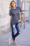 KAN CAN Distressed Jeans - Dark Wash skinny distressed jeans, outfit, Closet Candy Boutique