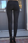 Suede Moto Leggings - Black suede rib moto leggings, Closet Candy Boutique 3