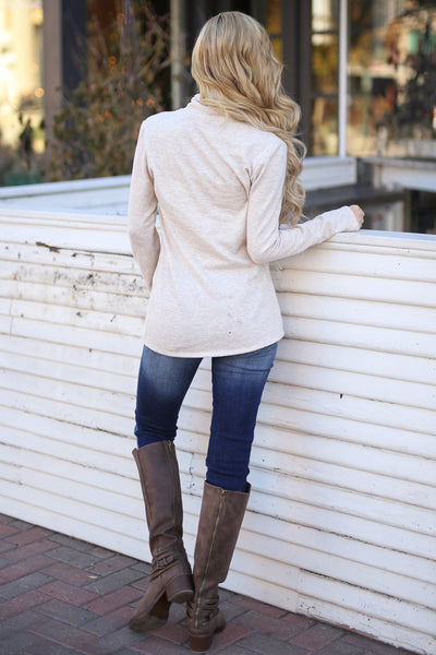 Stop Time Sweater - cute Oatmeal wrap sweater, Closet Candy Boutique 3