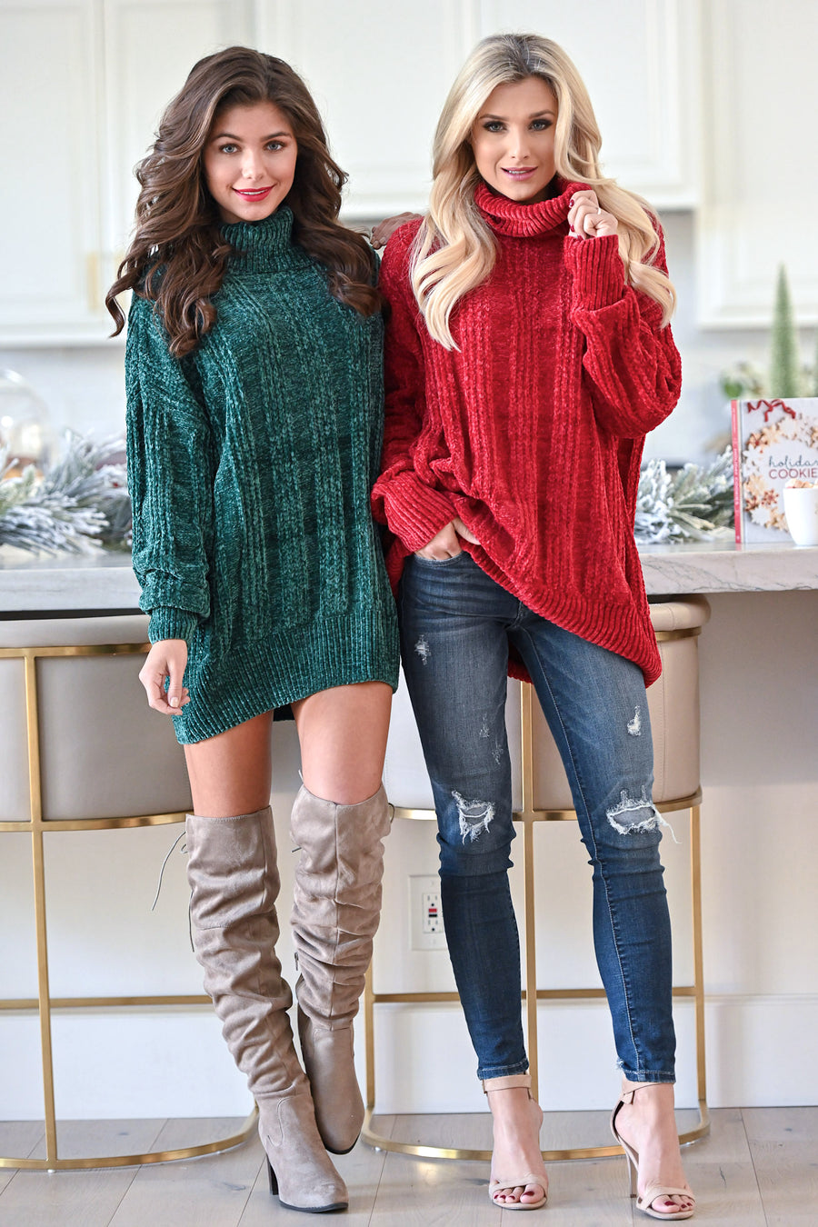 Feels Just Right Turtleneck Sweater - Cranberry women's oversized chunky pullover sweater, closet candy boutique 1