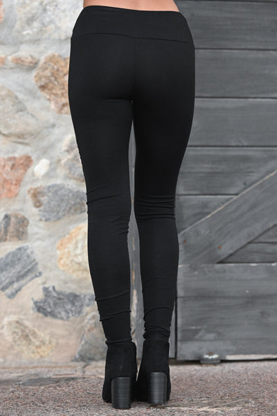 Living On The Edge Moto Leggings - Black women's athletic work out pants, Closet Candy Boutique 4