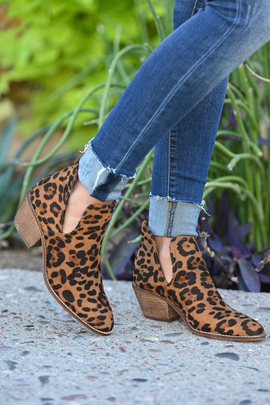 Calling Cupid Booties - Leopard print women's cutout booties, Closet Candy Boutique 1