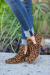 Calling Cupid Booties - Leopard print women's cutout booties, Closet Candy Boutique 3