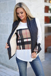 Northern Lights Puffer Vest - Black quilted puffer vest, Closet Candy Boutique 1
