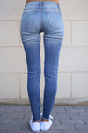 KAN CAN Distressed Skinny Jeans - Faded Wash jeans, Closet Candy Boutique 3
