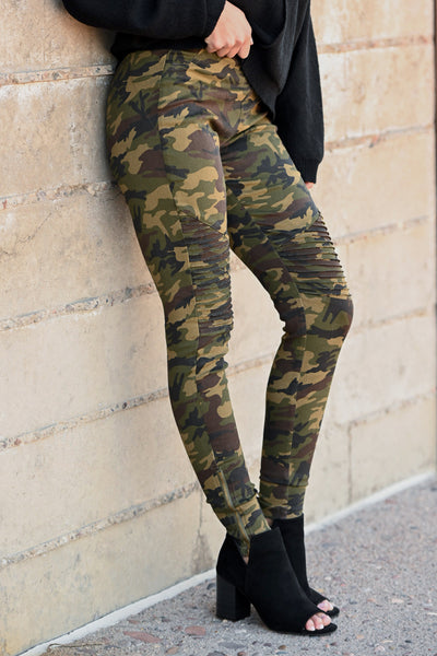 Best Kept Secret Camo Pants - camouflage women's moto pants, closet candy boutique 1