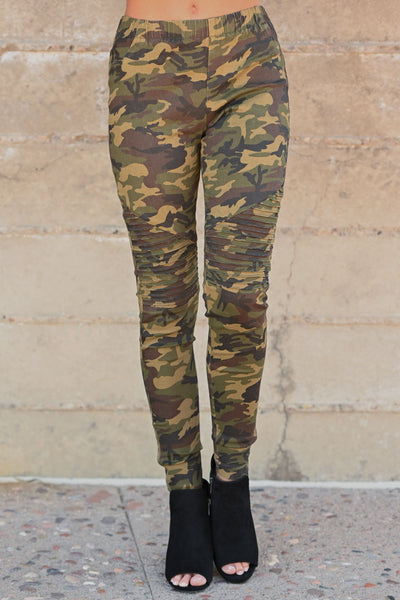 Best Kept Secret Camo Pants - camouflage women's moto pants, closet candy boutique 5