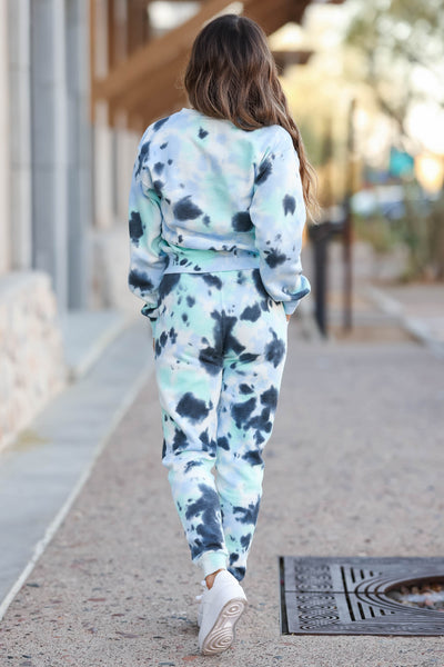Hit The Road Tie Dye Loungewear - Blue Skies closet candy 4