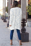 MYSTREE Won't Forget You Tweed Cardigan - Cream closet candy women's trendy tweed open front soft long sleeve cardigan back