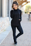Goal Getter Athleisure Hoodie - Black closet candy women's moisture wicking athletic hooded top 3