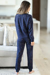 THREAD & SUPPLY Dreamer Loungewear - Navy Paint Splatter closet candy women's trendy paint splatter cozy loungewear long sleeve top and joggers back