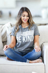 Be Anything Be Kind Graphic Tee - Charcoal womens trendy round neck graphic tee closet candy sitting