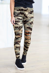 Be Different Camo Leggings - Olive womens destroyed printed pants closet candy 1