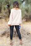 Addicted to Love Wide Neck Sweater - Beige closet candy women's trendy off the shoulder sweater back