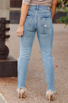 SPECIAL A Haley Distressed Mom Jeans - Medium Wash closet candy women's trendy ripped jeans 4
