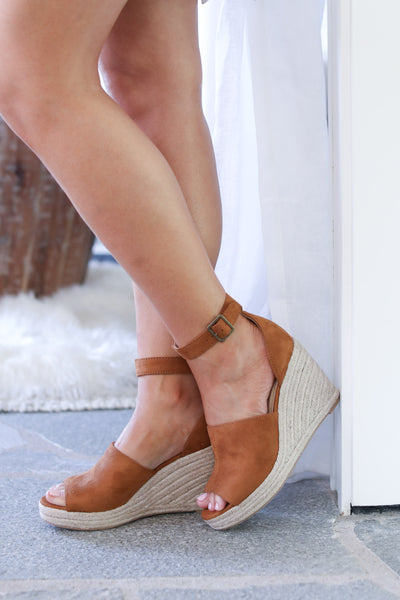 Place in My Heart Wedges - Tan