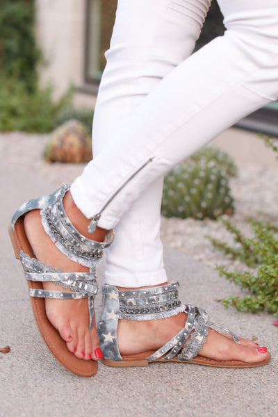 Walking On Stars Sandals - Light Blue