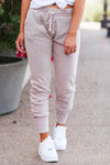 Chilly Day Joggers - Dusty Rose women's trendy joggers closet candy front