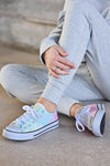 True Colors Sneakers - Tie Dye - trendy womens lace up sneakers closet candy side