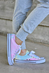 True Colors Sneakers - Tie Dye - trendy womens lace up sneakers closet candy side 3