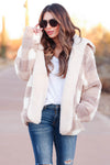 Got What I Got Reversible Sherpa Jacket - Taupe closet candy womens outerwear close 1