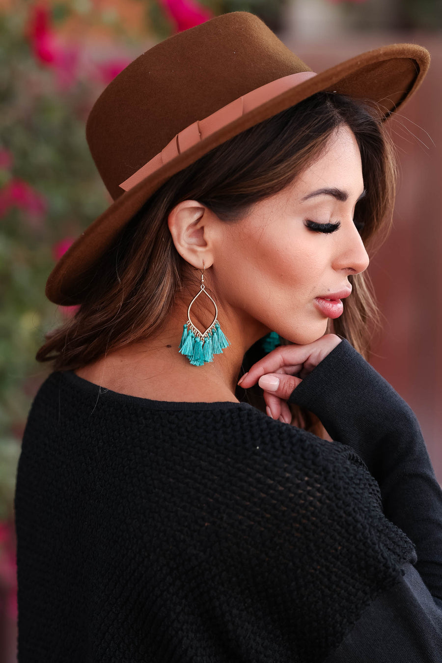 Reason To Stay Tassel Earrings - Turquoise closet candy womens trendy accessories 1