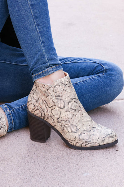 Bad With Directions Booties - Snake closet candy snake print shoes 1