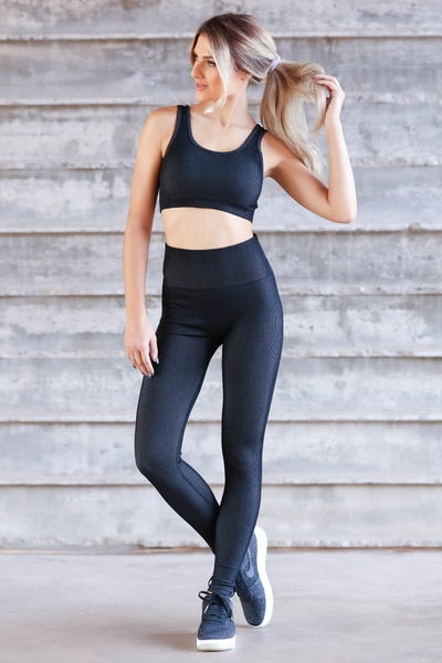 Casual Moves Ribbed Seamless Activewear - Black closet candy womens workout wear 3