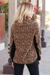 CBRAND Most Wanted Fleece Pullover - Leopard. closet candy womens outerwear back
