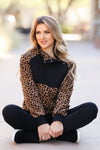 CBRAND Most Wanted Fleece Pullover - Leopard. closet candy womens outerwear sitting 2