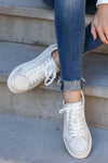 Cold Hearted Metallic Snake Print Sneakers - White closet candy womens shoes 2