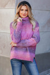 Keep Me Close Ombre Sweater - Berry closet candy womens turtleneck front 1