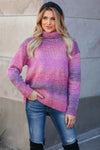 Keep Me Close Ombre Sweater - Berry closet candy womens turtleneck close 1