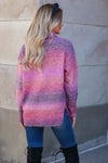 Keep Me Close Ombre Sweater - Berry closet candy womens turtleneck back