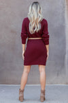 CBRAND Self Made Sweater Dress - Wine closet candy womens long sleeve dress back