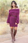 A Girls Got Choices Sweater Dress - Magenta - Closet Candy Boutique Main