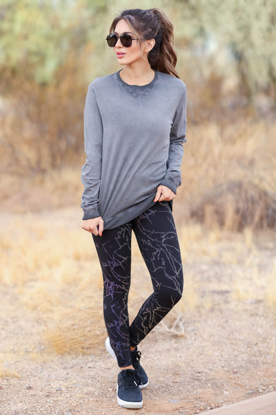 When Lightning Strikes Reflective Activewear - Black closet candy womens athletic wear 5