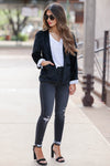 CBRAND Up Till Midnight Velvet Blazer - Black womens velvet jacket closet candy 2
