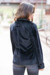 CBRAND Up Till Midnight Velvet Blazer - Black womens velvet jacket closet candy 4