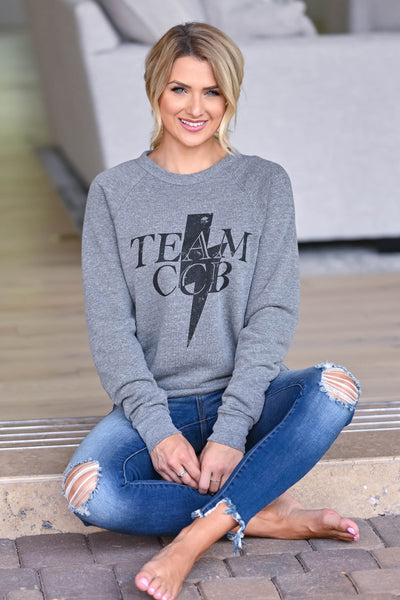Team CCB Lightning Sweatshirt - Grey women's closet candy swag 4